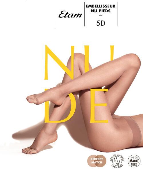 Przezroczyste rajstopy bezpalcowe, efekt gołych nóg