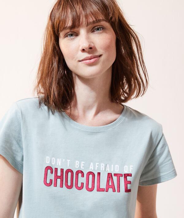 T-shirt z napisem 'don't be afraid of chocolate';${refinementColor}
