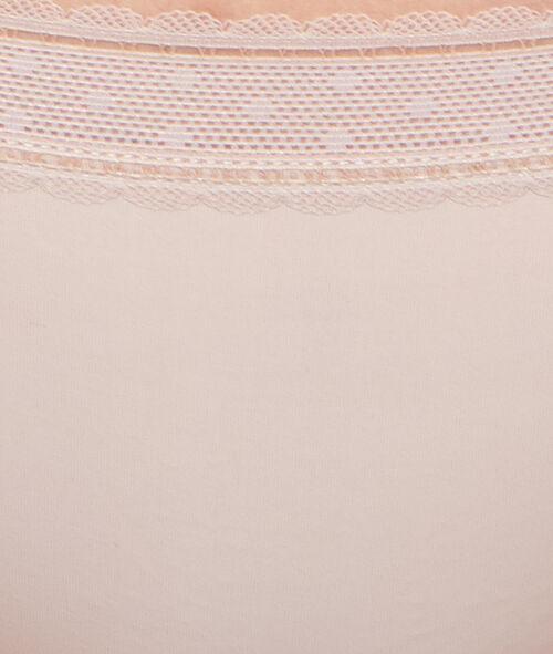 Koronkowe majtki typu tanga z mikrofibry