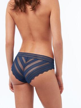 Majtki z dwóch elastycznych materiałów bleu.