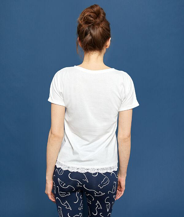 T-shirt z nadrukiem i napisem 'chaton';${refinementColor}