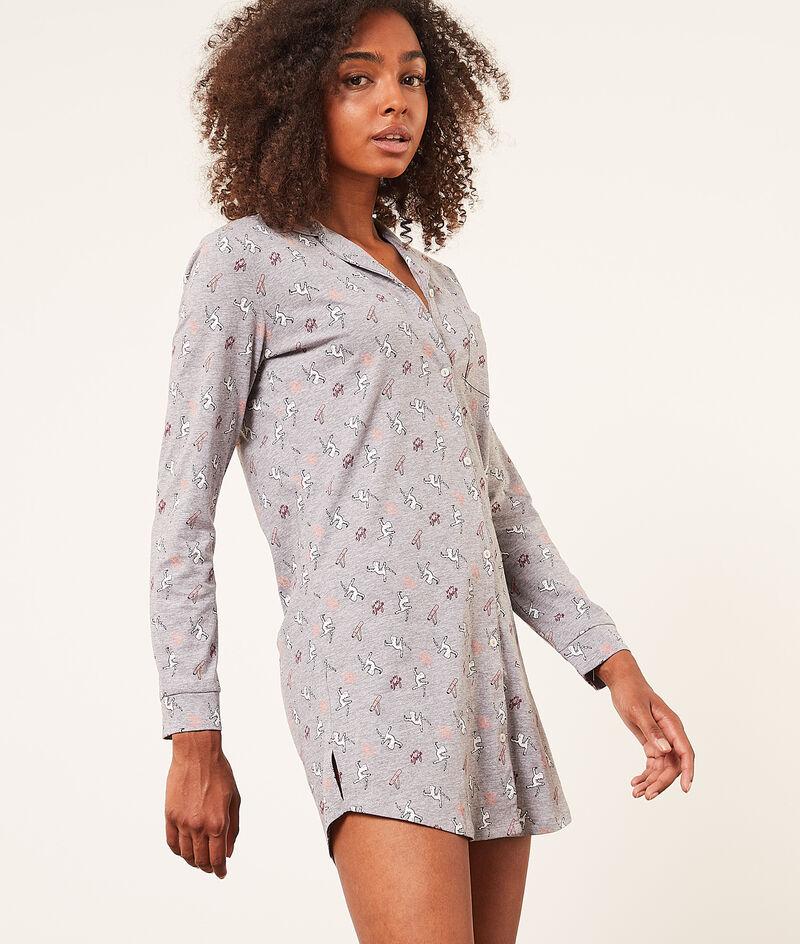 Koszulka nocna z długimi rękawami;${refinementColor}