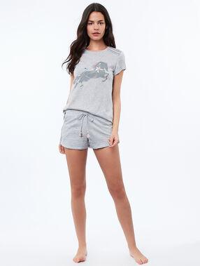 T-shirt z motywem koników gris.