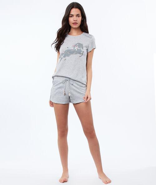 T-shirt z motywem koników