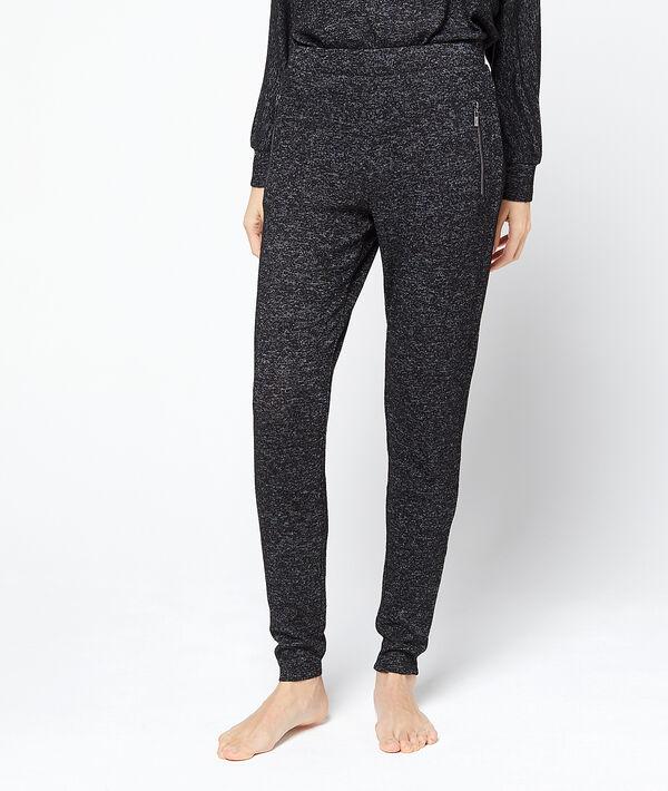 Spodnie loungewear w deseń typu melanż;${refinementColor}