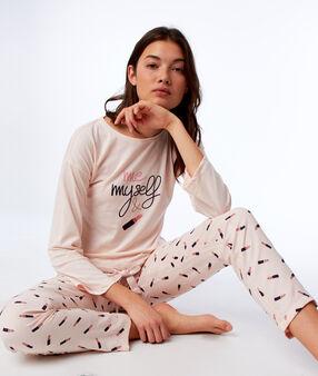 T-shirt z długimi rękawami wiązany na dole rose.