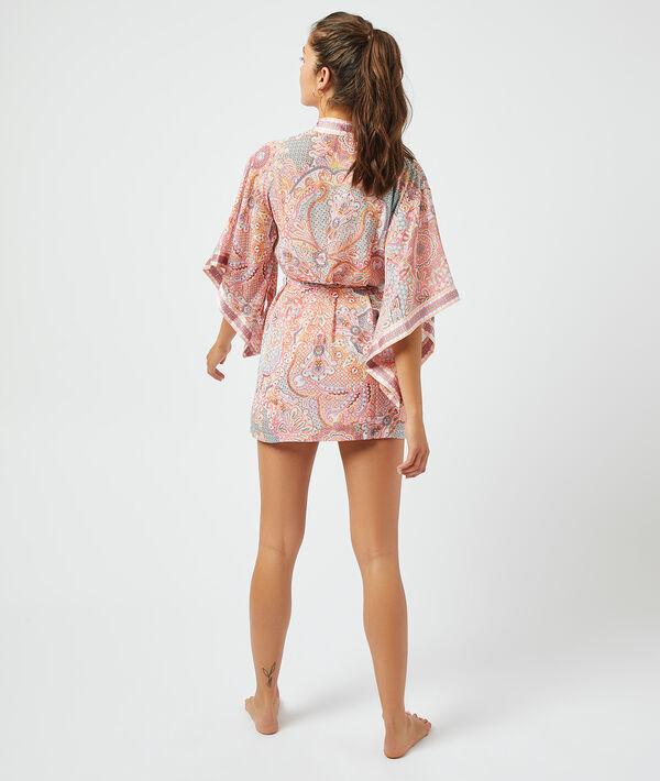 Satynowe kimono z nadrukiem;${refinementColor}