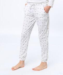 Spodnie  z motywem pandy jednorożca blanc.