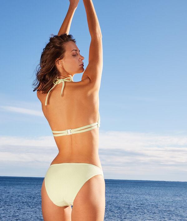 Majtki bikini od kostiumu kąpielowego, deseń w paski;${refinementColor}