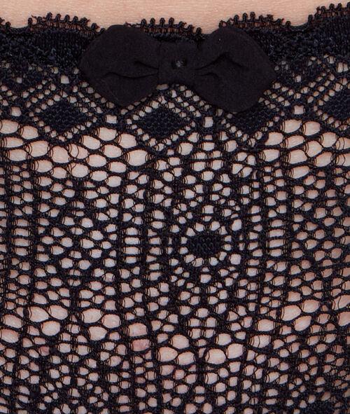 Majtki typu tanga z szyfonu i koronki graficznej