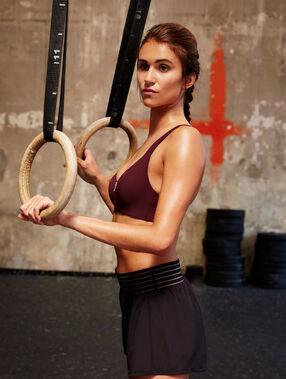 Biustonosz sportowy - średnie podtrzymanie cassis.
