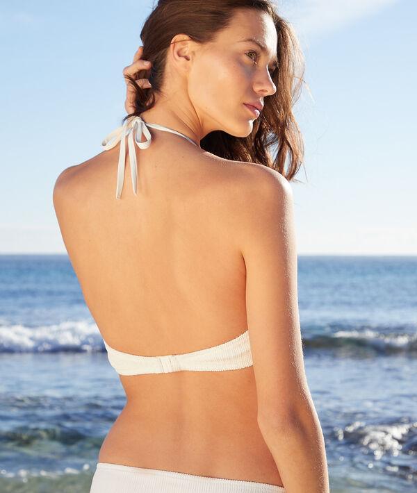 Biustonosz trójkątny na ramiączkach bez fiszbin, góra od kostiumu kąpielowego;${refinementColor}