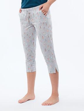 Spodnie w etniczny deseń ecru.