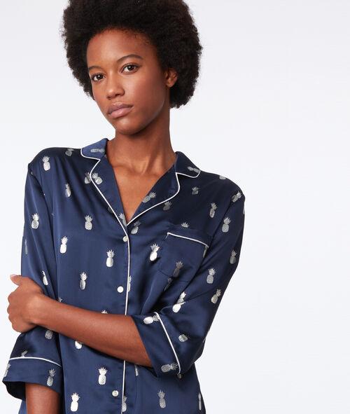 Koszula od piżamy w błyszczące ananasy