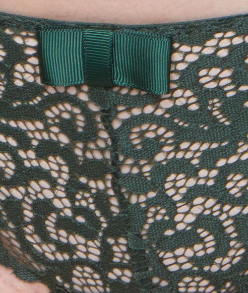 Majtki typu tanga z koronki