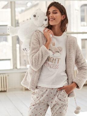 Piżama trzyczęściowa beige.