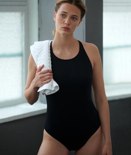 fb8f73986fb1e0 Sportowy strój kąpielowy z modelującego materiału - FLORIANE - NOIR ...