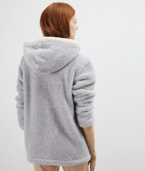 Bluza z przytulnego materiał, zwierzątka 3D na kieszeniach