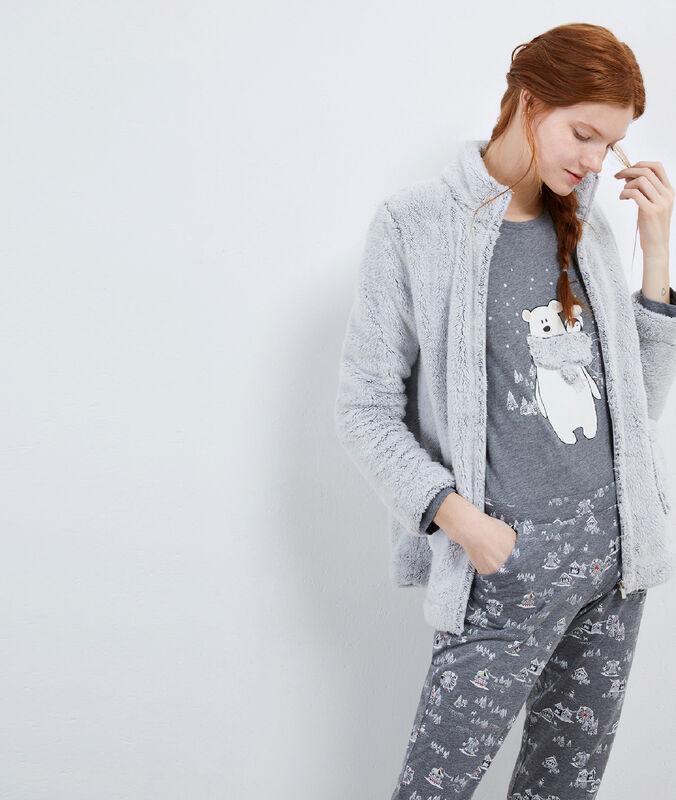 Piżama trzyczęściowa z motywem misia gris.