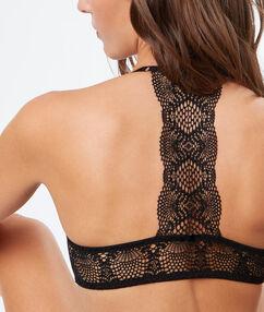 Biustonosz  - klasyczny biustonosz usztywniany, na plecach wycięcie w stylu bokserskim noir.