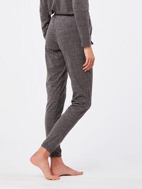 Spodnie w jednolitym kolorze ozdobione chwościkami anthracite.