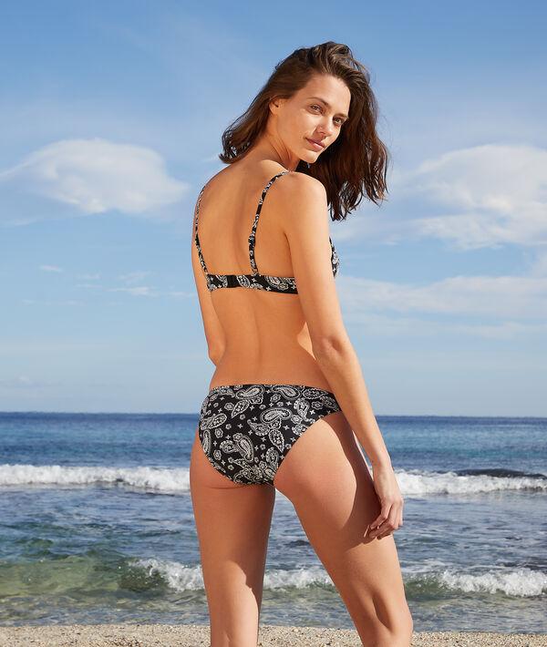 Wzorzyste majtki bikini od kostiumu kąpielowego;${refinementColor}