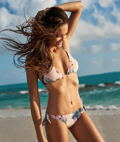 Bikini brésilien - high leg multicolore.