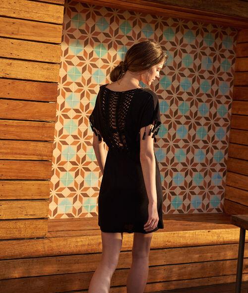 fe5a1118849ba8 Sukienka plażowa z dekoltem w kształcie litery V, plecy z graficznej koronki