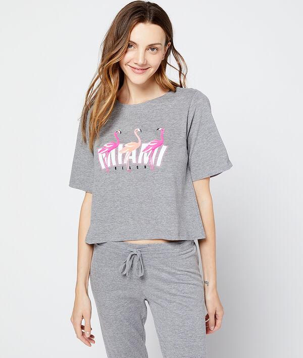 Krótki t-shirt 'Miami Beach'