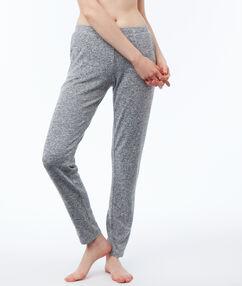 Spodnie homewear w deseń typu melanż gris.