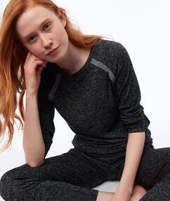 Bluza homewear w deseń typu melanż gris.