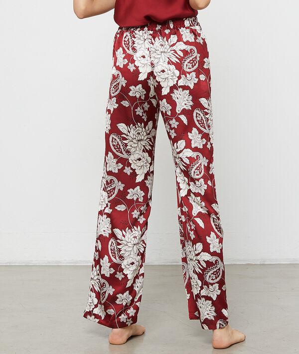 Satynowe spodnie w kwiatowe motywy