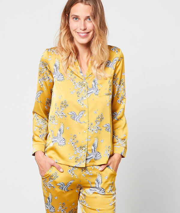 Koszula od piżamy z motywem ptaków
