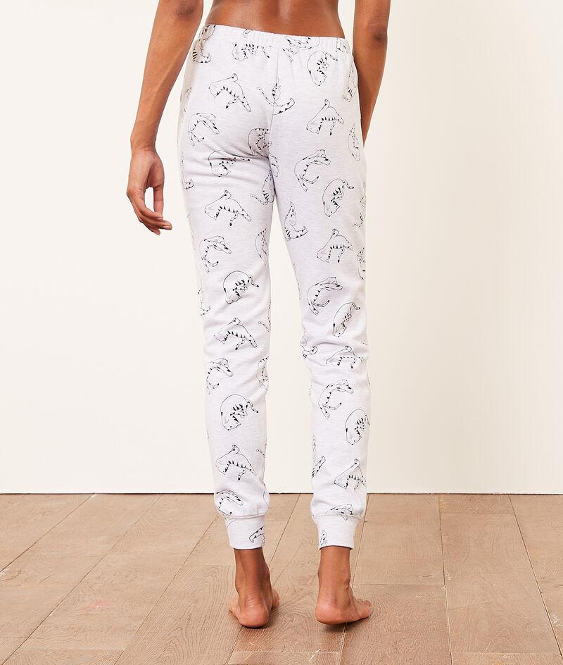 Spodnie od piżamy z motywem kotów;${refinementColor}