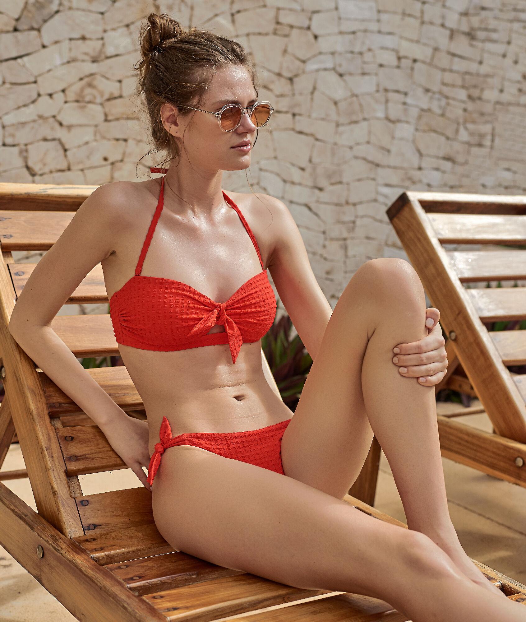 LUNE Dół bikini z supełkami