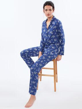 Męska koszula od piżamy w turecki deseń bleu.