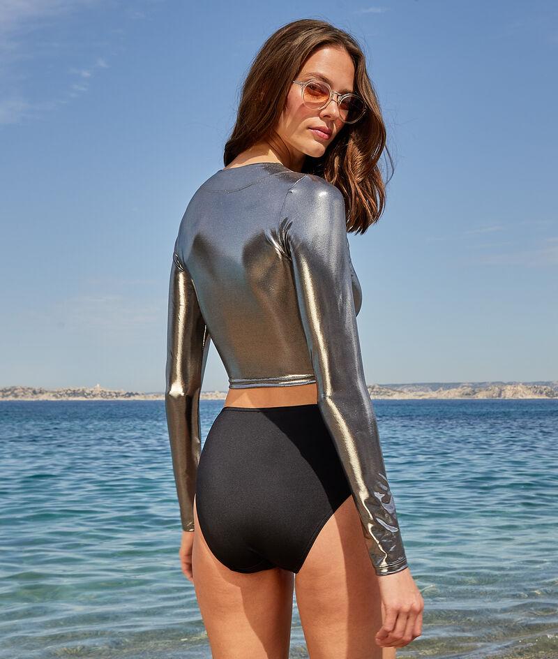 Crop top surfingowy z długimi rękawami;${refinementColor}