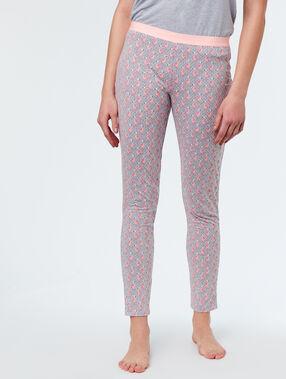 Spodnie w różowe flamingi gris.