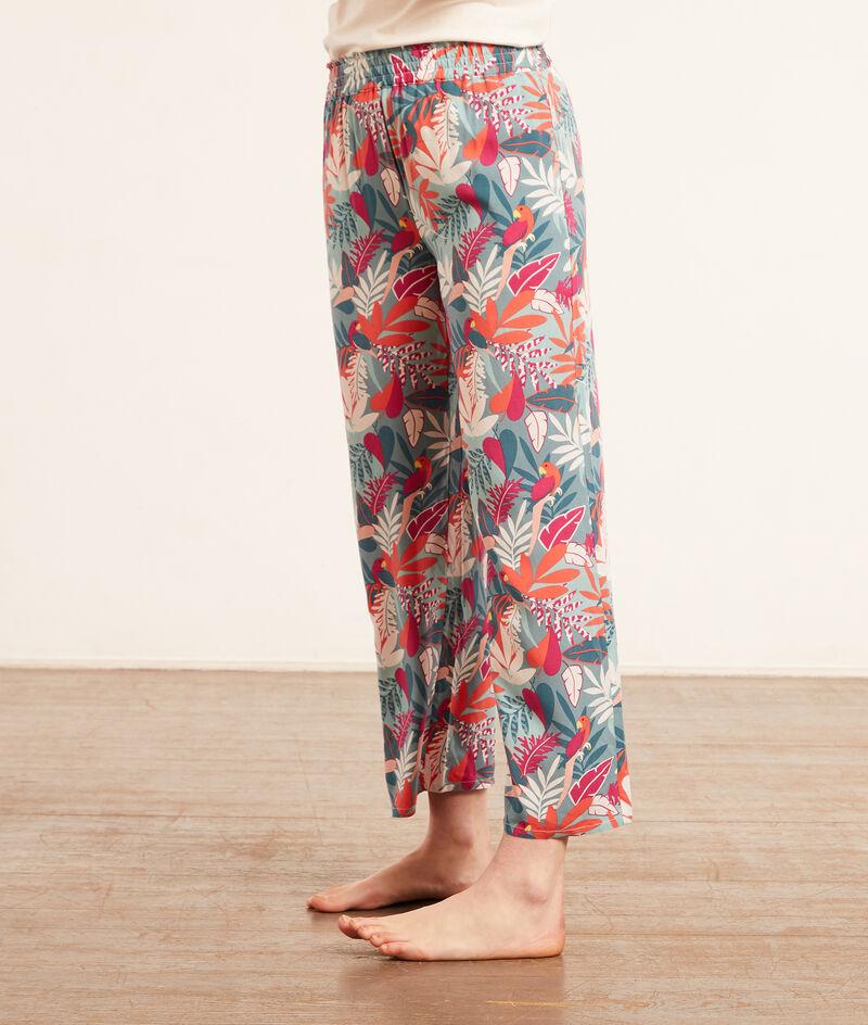 Wzorzyste spodnie od piżamy;${refinementColor}
