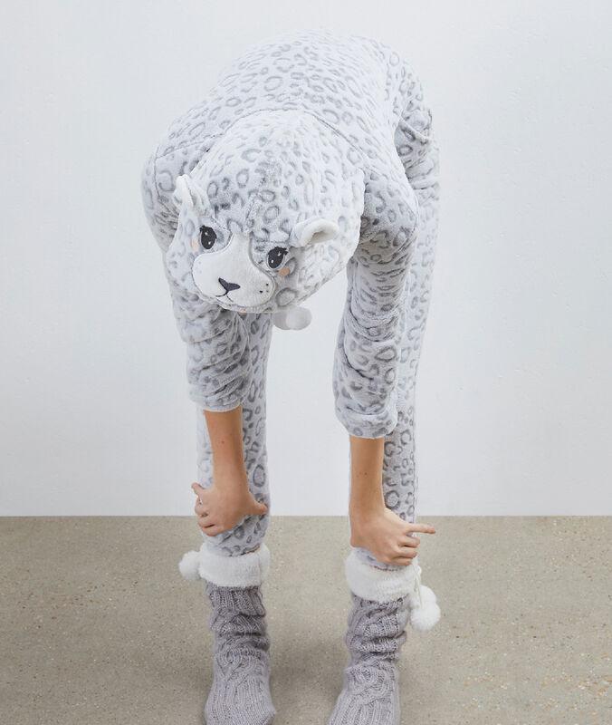 Kombinezon z przytulnego materiału gris.