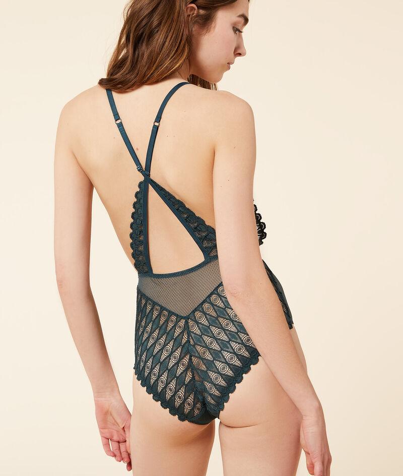 Koronkowe body z ramiączkami skrzyżowanymi na plecach;${refinementColor}
