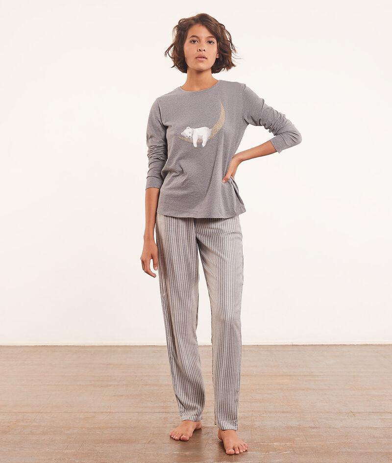 Piżama 3-częściowa z bluzą polarową;${refinementColor}