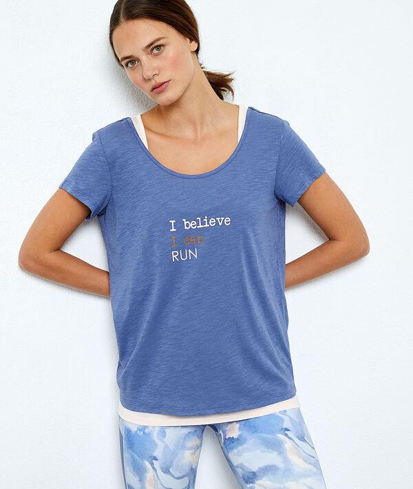 T-shirt treningowyz podkoszulkiem w jednym