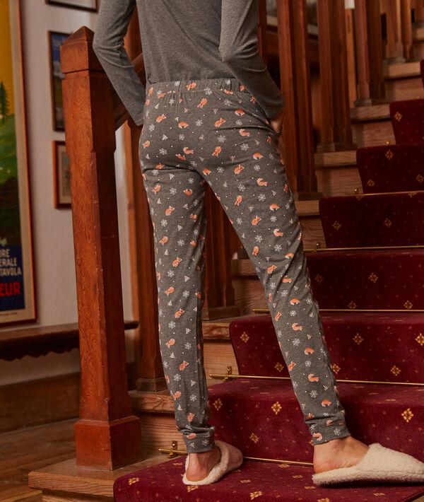 Spodnie z nadrukiem rudych pand