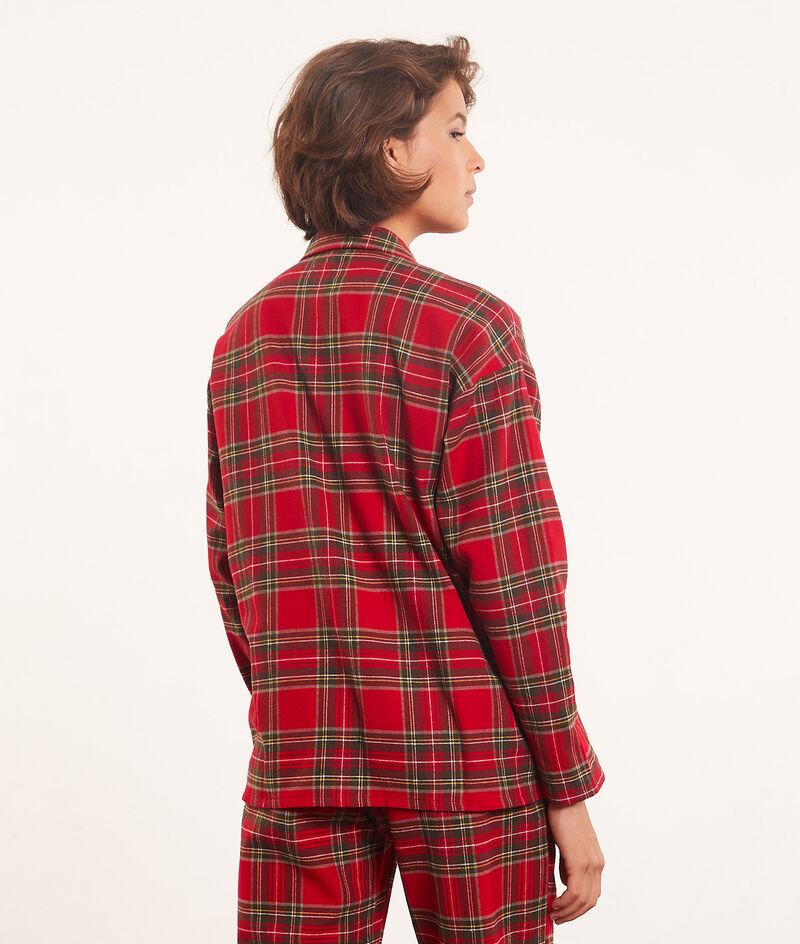 Koszula piżamowa w kratę;${refinementColor}