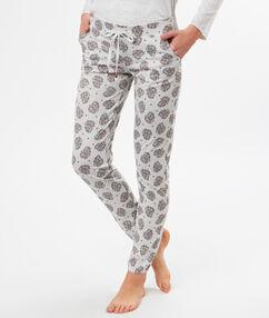 Spodnie w etniczny deseń gris.