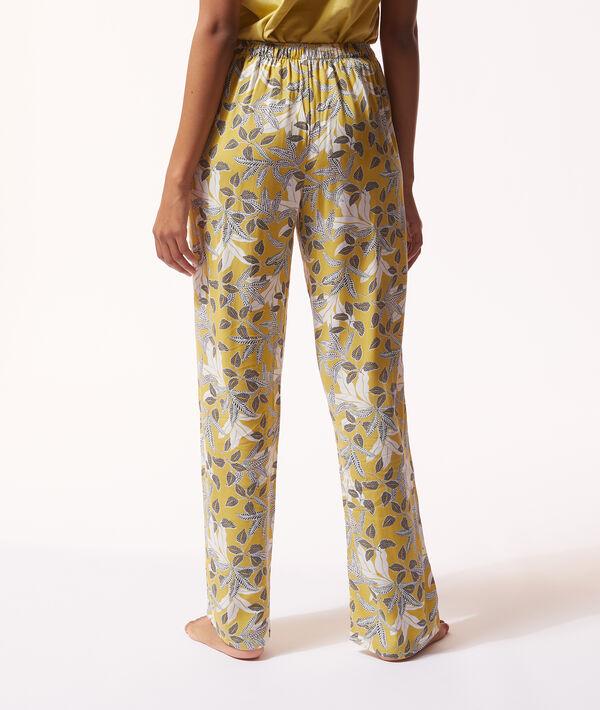 Satynowe spodnie z kwiatowym nadrukiem;${refinementColor}