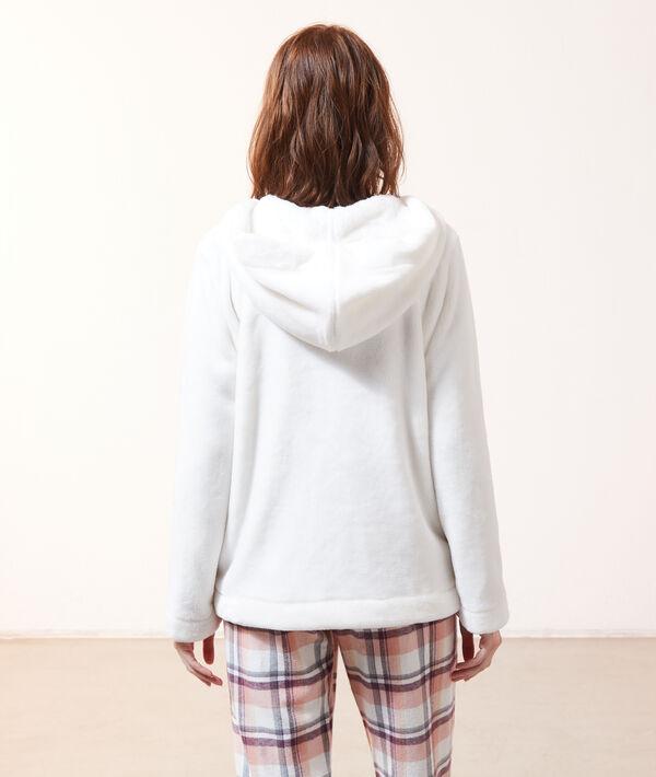 Bluza z polaru homewear z kapturem;${refinementColor}