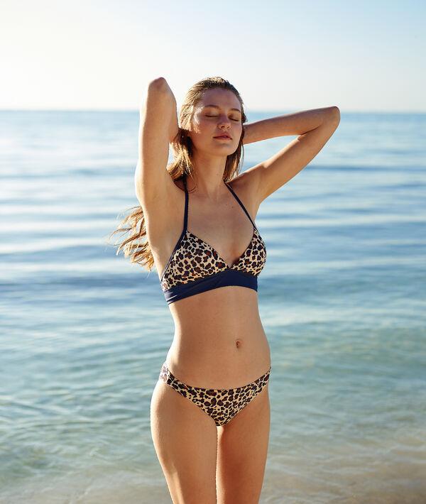 Klasyczny dół bikini w cętki leoparda
