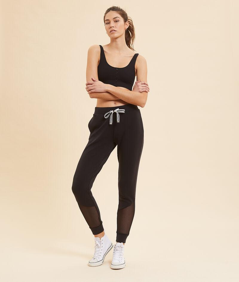 Spodnie sportowe ze wstawkami tiulu